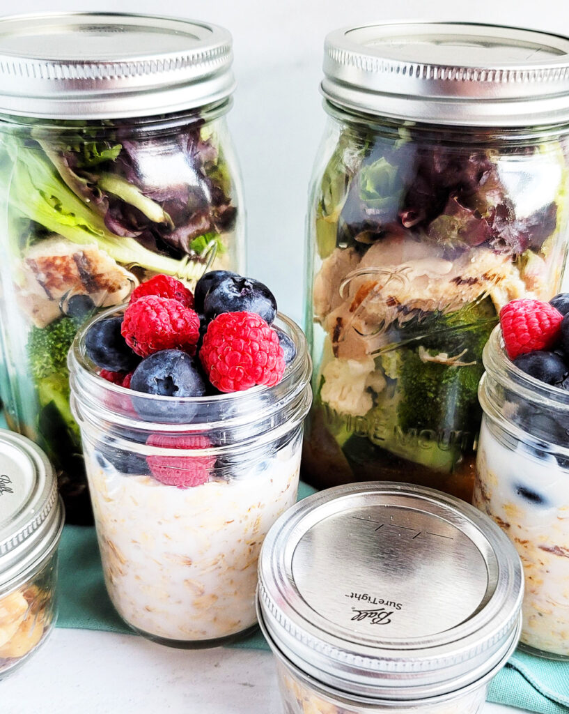 Stress Free Meal Prepping with Ball Canning www.beautifuleatsandthings.com