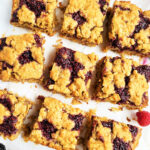 These Berry Chia Jam Oat Bars are made with Oregon raspberry and blackberry chia jam, and topped with an oat crumble. A great option for your weekly meal-prep. beautifuleatsandthings.com