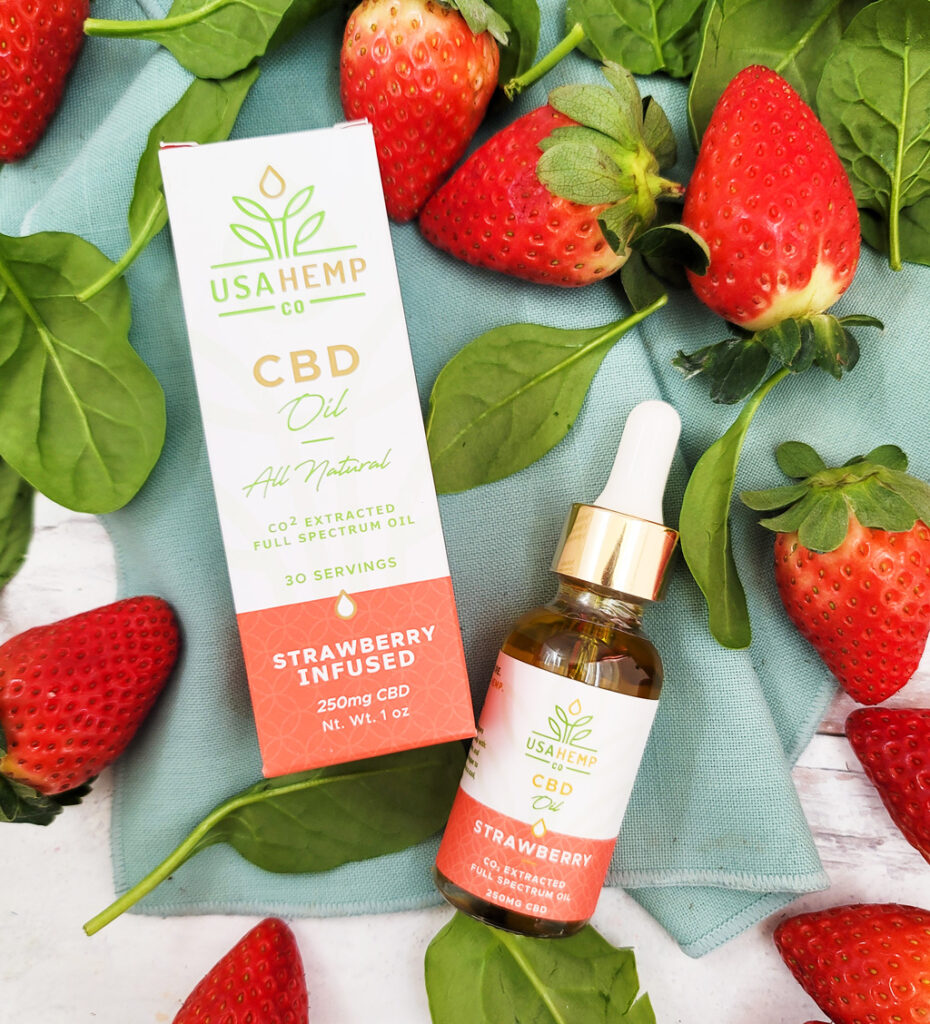 This Strawberry Hemp Oil Vinaigrette is made with USA Hemp Strawberry CBD Oil and drizzled over a strawberry spinach salad. The best CBD Oil dressing ever!  beautifuleatsandthings.com