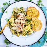 Quick & Easy 5 Day Dinner Meal Plan. dinner menu: basil pesto beautifuleatsandthings.com