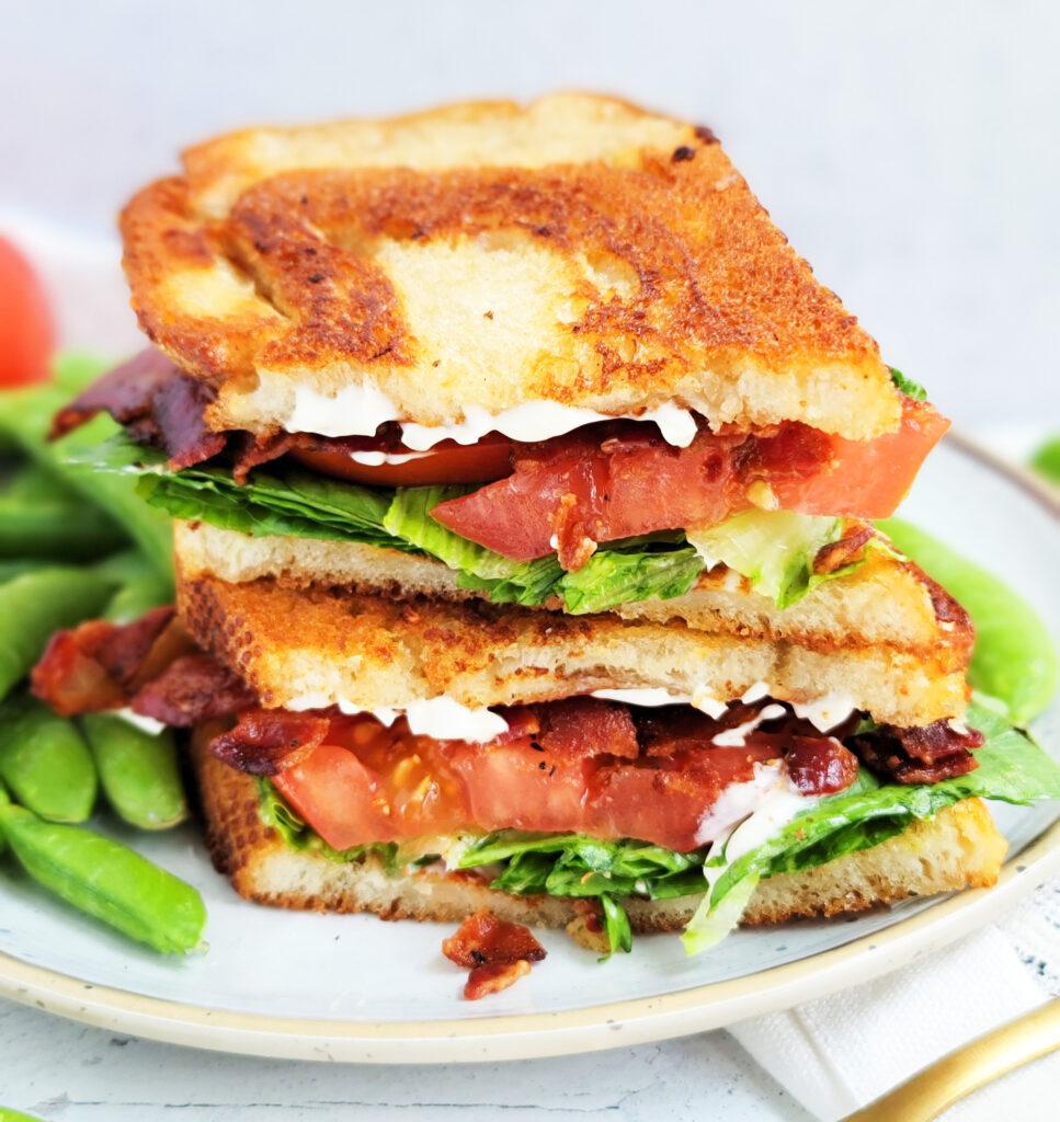 Quick & Easy 5 Day Dinner Meal Plan. dinner menu: blt sandwich on sourdough bread   beautifuleatsandthings.com